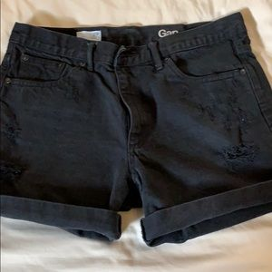 GAP Shorts - Gap black denim distressed shorts